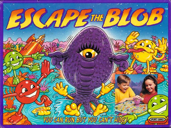 "Deckel des Spiels ""Escape the Blob""."